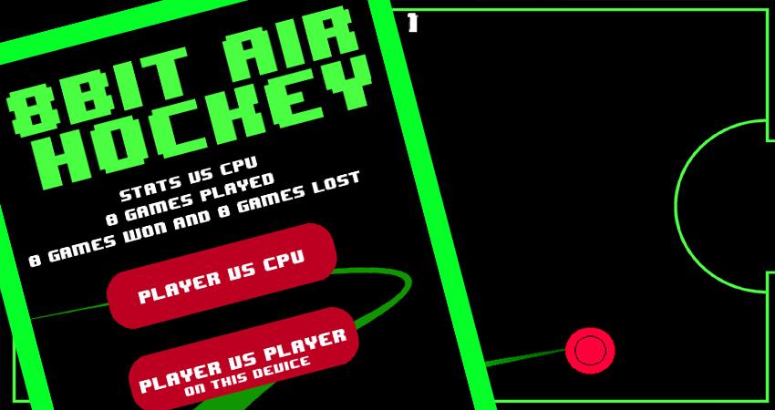 LunarEx Games - Mobile Games - 8-Bit Air Hockey